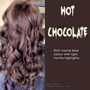 hair color inspired by hot chocolate