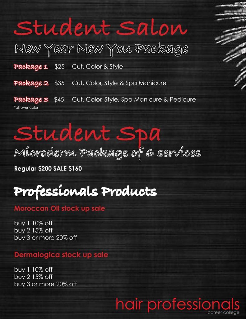Salon & Spa specials