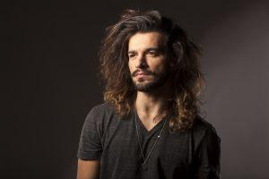 man with shoulder length hair