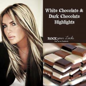 white and dark chocolate inspired hair